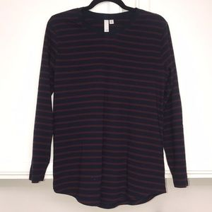 Cozy striped BP top